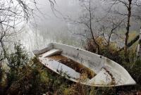 в лодке по печенежскому водохранилищу